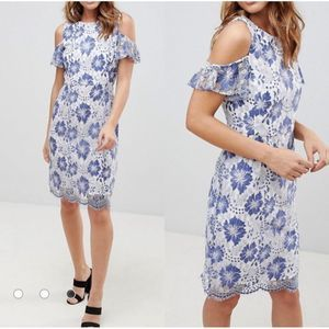 French Connection Antonia Lace ColdShoulder Dress